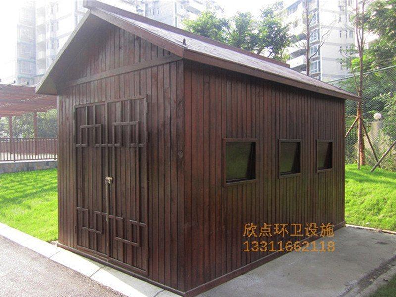 小区物业防腐木垃圾房XDF-09